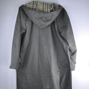 BURBERRY London Olive Hooded Trench Coat 14